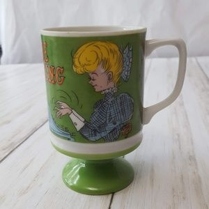 Vintage 70's Gay Old Days footed coffee cup